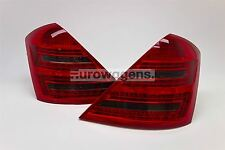 Mercedes S Class W221 05-09 LED Smoked Red Rear Tail Lights Lamp Pair Left Right
