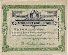 New Jersey 1903, Nazareth Cement Limestone Company Stock Certificate #9