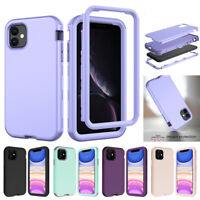 For iPhone 11 Pro Max XR 7 8 Case Hybrid Rubber Shockproof Heavy Duty Hard Cover