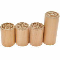 Wood Emboss Stamp Clay Pottery Polymer Printing Blocks Mold Tools DIY Crafts
