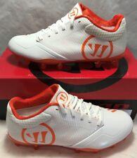 Warrior Mens Size 8.5 Burn 9.0 Lacrosse Lax Cleats White Orange Low New