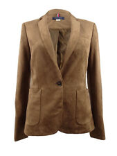 Tommy Hilfiger Women's One-Button Faux-Suede Blazer