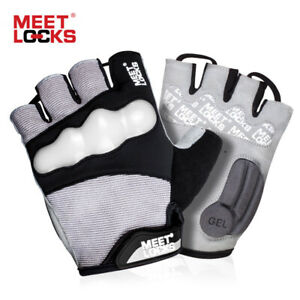 Bike Glove Half Finger Cycling Glove with Gel Pad with TPU Fluorescent Shell