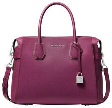 ORIGINAL Michael Kors Mercer Belted Medium Satchel Bag Garnet Leather