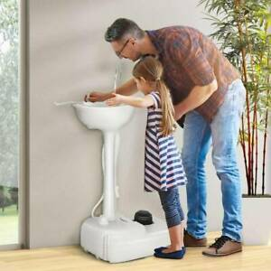 Removable Hand Washing Sink Wash Basin Stand Sanitation Portable Indoor Outdoor