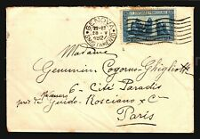Italy 1927 Genova cover with Sass #196 Francscano Perf14 Cat value $120 Italia