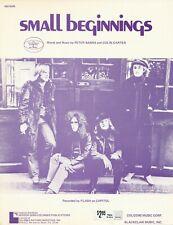 Small Beginnings - Flash - 1972 US Sheet Music