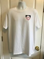 Under Armour Mens Shirt Size L White Red Blue Short Sleeves Brave and Free 00004000