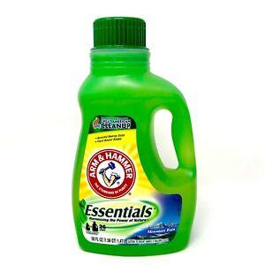 Arm & Hammer Essentials Laundry Detergent Mountain Rain 50 Fl Oz