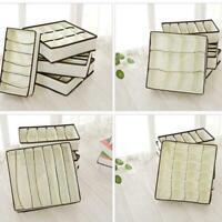 Home Foldable Storage Bra Underwear Organizer Closet Drawer Divider Storage Box
