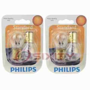 2 pc Philips Parking Light Bulbs for Isuzu Amigo Pickup Rodeo 1989-1998 zq