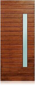 "Nobu Design - 36""x96"" Exterior Unfinished Modern Mahogany Single Pre-Hung Door"