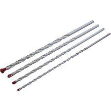 Nuevo 4pc mampostería Drill Bit Set Talla 6 8 10 12 mm Longitud 285mm concretas Cinc Plateado