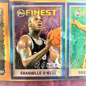 NBA STARS 1995-1996 BASKETBALL TOPPS FINEST PLASTIC POSTER 27X12 INCHES W FRAME