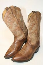 Tony Lama Mens Size 10.5 D Leather Pull On USA Made Cowboy Boots 7901