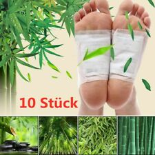 10 Stück Fusspflaster Detox Foot Pads Vitalpflaster Entgiftung Entschlackung Set
