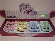 12 Pack 1962 VW Bus Volkswagen Van Diecast 1:64 Kinsmart 2.5inch Flower Keychain