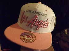 base ball hat, bull bot, LA, los angeles, pink, snapback,