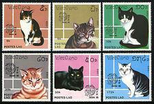 Laos 908-913, MI 1124-1129, MNH. Cats, Bird emblem, INDIA-1989