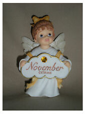 BIRTHSTONE ANGEL FIGURINE - NOVEMBER - CITRINE  - JEANE'S THINGS
