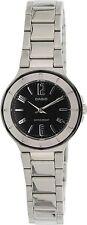 Casio LTP1367D-1A1 Ladies Black Dial Metallic Stainless Steel Dress Watch NEW