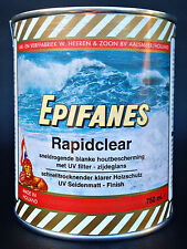 (43,87€/L) Epifanes Rapidclear 750ml Spezial-Holzlack für Teak Boot Gartenmöbel