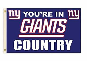 NEW 3x5 ft YOU'RE IN NY GIANTS COUNTRY Genuine NFL Lic. NEW YORK FLAG