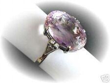 AMETISTA 15,0ct/Anello 0,10ct diamanti 750 valore ORO BIANCO EUR 1150,-