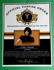 TWILIGHT OFFICIAL VAMPIRE ORDER VOLTURI ALICE CULLEN ASHLEY GREENE  CARD