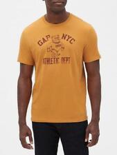 BNEW Gap Athletic Logo Crewneck Mens T-Shirt, Dessert Sun tan, XLarge