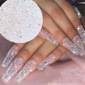 5000x AB Nail Rhinestone Crystal 1.2mm 3D Micro Glass DIY Gems Glitter Nails Art