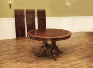 Round to Oval Mahogany Dining Table Seats 12 -Traditional