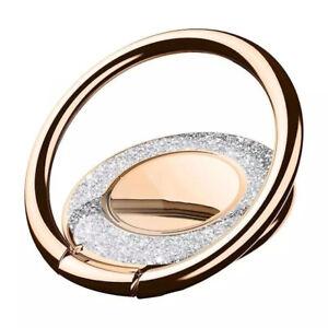 360 ° Rotating Bling Glitter Finger Grip Metal Ring Stand Holder for Cell Phone