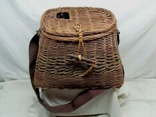 Beautiful Vintage Large Flat Back Fishing Creel