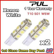 2x T10 501 W5W 13SMD 5050 XENON WHITE Super Bright LED Bulb Mitshubishi