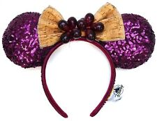 New Disney Epcot Food & Wine Festival 2020 Grapes Cork Bow Burgundy Minnie Ears
