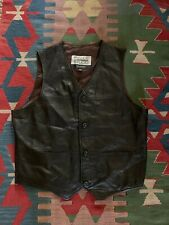 Pelle Studio by Wilsons Leather Mens Soft Black Leather Adjustable Vest XL