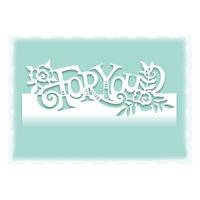 Stanzschablone For You Blume Hochzeit Weihnachts Geburtstag Oster Album Karte