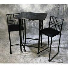 Geometric Bar Stool and Table Set