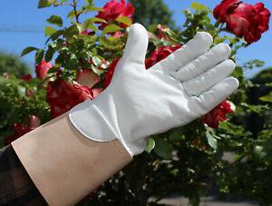 Softe, echt Leder Rosenhandschuhe mit kräftiger Stulpe und gutem Griff