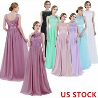 Womens Long Wedding Bridesmaid Dress Lace Evening Maxi Gown Formal Cocktail Prom