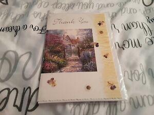Thankyou Greeting Card BNIP - house, flowers