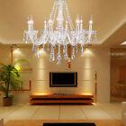 Lampadario in vetro 8 punti luce lampada a sospensione soffitto gocce cristallo
