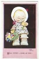 Artist Mabel Lucie Attwell 'Real Sweet Same As You!' Vintage Postcard 22.2