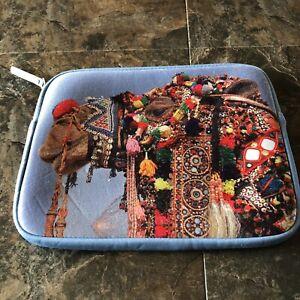 Lucky Brand Bohemian Camel Print Universal iPad Tablet Sleeve Padded Travel Case