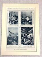 1915 WW1 Stampa Royal Academy Dipinti War Art