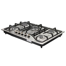 "30"" Stainless steel Built-In Stoves 5 Burners Kitchen  NG/LPG Gas Hob Cooktops"