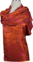 Schal 100% Seide, silk  scarf soie écharpe foulard Orange Pink