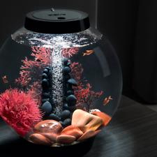 Classic Aquarium with Accessories White Led Light, 4 gallon, Black -Stone River