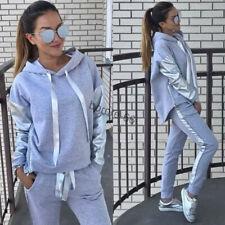 MODE Damen Trainingsanzug Hausanzug Hoodie Sweatshirt Hose Jogginganzug Sport DE